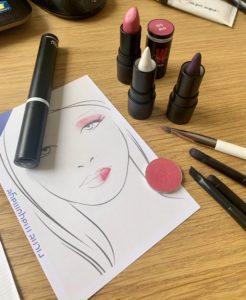 visuel des produits composant le look rose glowy