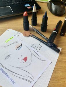 Visuel des produits composant le look glam